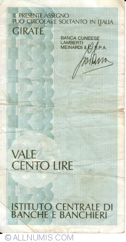 Imaginea #2 a 100 Lire 1977 (15. II.) - Milano
