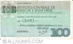 Imaginea #1 a 100 Lire 1977 (15. II.) - Milano