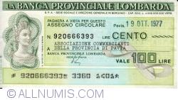 100 Lire 1977 (19. X.) - Pavia