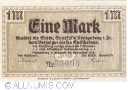 Imaginea #1 a 1 Mark 1918 - Königsberg