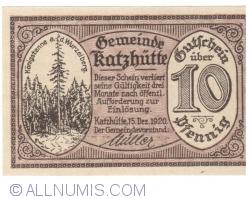 Image #1 of 10 Pfennig 1920 - Katzhütte