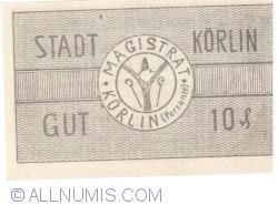 Imaginea #2 a 10 Pfennig 1920 - Körlin