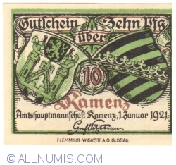 Image #1 of 10 Pfennig 1921 - Kamenz