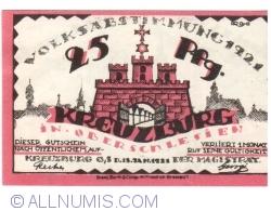 Image #1 of 25 Pfennig 1921 - Kreuzburg (Oberschlesien)