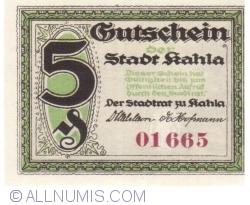 Imaginea #1 a 5 Pfennig 1921 - Kahla