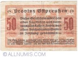 Imaginea #2 a 50 Pfennig 1918 - Konigsberg