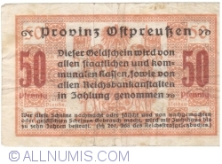 Image #2 of 50 Pfennig 1918 - Konigsberg