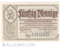 Imaginea #1 a 50 Pfennig 1918 - Königsberg