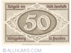 Imaginea #2 a 50 Pfennig 1918 - Königsberg