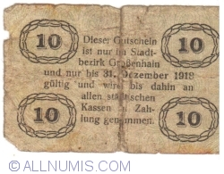 Image #2 of 10 Pfennig 1918 - Grossenhain
