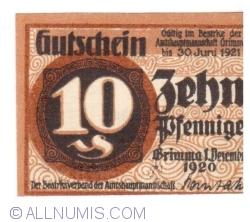Image #1 of 10 Pfennige 1920 - Grimma