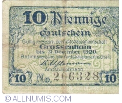 Image #1 of 10 Pfennig ND - Grossenhain