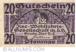 Imaginea #1 a 20 Pfennige ND - Grube Ilse