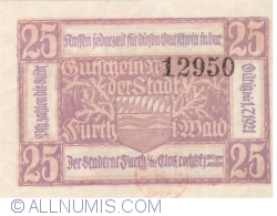 Imaginea #1 a 25 Pfennig 1921 - Furth im Wald
