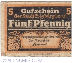 Image #1 of 5 Pfennig 1920 - Freyburg (Unstrut)