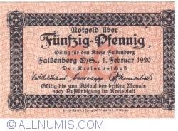 Image #1 of 50 Pfennig 1920 - Falkenberg O.S.