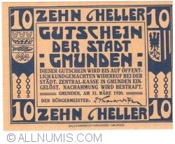 Image #1 of 10 Heller 1920 - Gmunden
