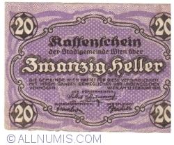 Imaginea #1 a 20 Heller 1920 - Viena