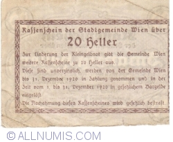 Imaginea #2 a 20 Heller 1920 - Viena