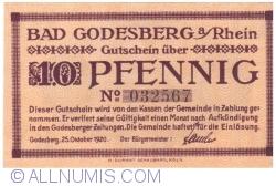 Image #1 of 10 Pfennig 1920 - Bad Godesberg