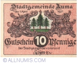 Image #1 of 10 Pfennig 1921 - Auma