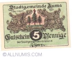 Image #1 of 5 Pfennig 1921 - Auma