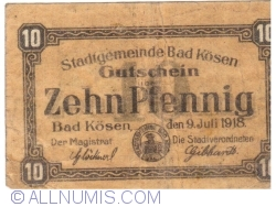 10 Pfennig 1918 -  Bad Kösen