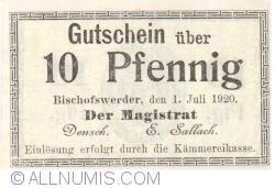 Image #1 of 10 Pfennig 1920 - Bischofswerder