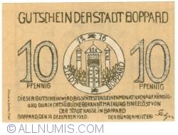 Image #1 of 10 Pfennig 1920 - Boppard