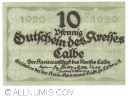 Image #1 of 10 Pfennig 1920 - Calbe
