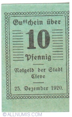 Image #1 of 10 Pennig 1920 - Cleve