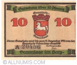 Image #1 of 10 Pfennig ND - Braunlage