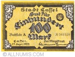 Image #1 of 100 Mark 1922 - Cassel