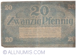 Image #2 of 20 Pfennig ND - Cottbus