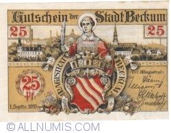 Imaginea #1 a 25 Pfennig 1920 - Beckum