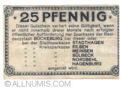 Image #2 of 25 Pfennig 1920 - Bückeburg