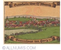 Image #2 of 25 Pfennig ND - Braunlage