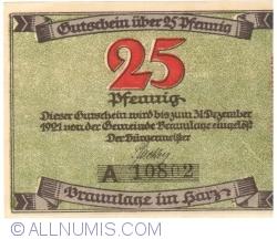Image #1 of 25 Pfennig ND - Braunlage