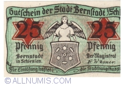 Imaginea #1 a 25 Pfennig ND - Bernstadt in Schlesien