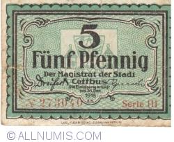 Image #1 of 5 Pfennig 1918 - Cottbus