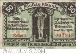 Image #1 of 50 Pfennig 1920 - Belgern (Reihe I)