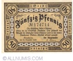 50 Pfennig 1921 - Bensheim