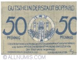 Image #1 of 50 Pfennig 1920 - Boppard