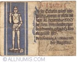 Imaginea #2 a 50 Pfennig 1918 - Brandenburg