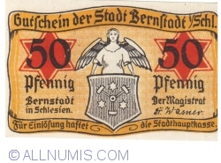 Imaginea #1 a 50 Pfennig ND - Bernstadt in Schlesien