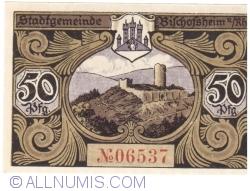 Image #2 of 50 Pfennig ND - Bischofsheim an der Rhön