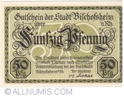 Image #1 of 50 Pfennig ND - Bischofsheim an der Rhön