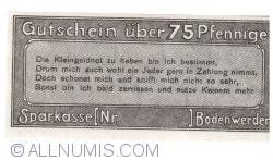 Imaginea #2 a 75 Pfennig 1919 - Bodenwerder