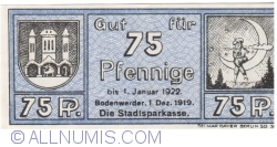 Imaginea #1 a 75 Pfennig 1919 - Bodenwerder