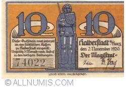 10 Pfennig 1920 - Halberstadt